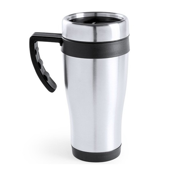 RVS thermosbeker-warm houd beker zwart 500 ml
