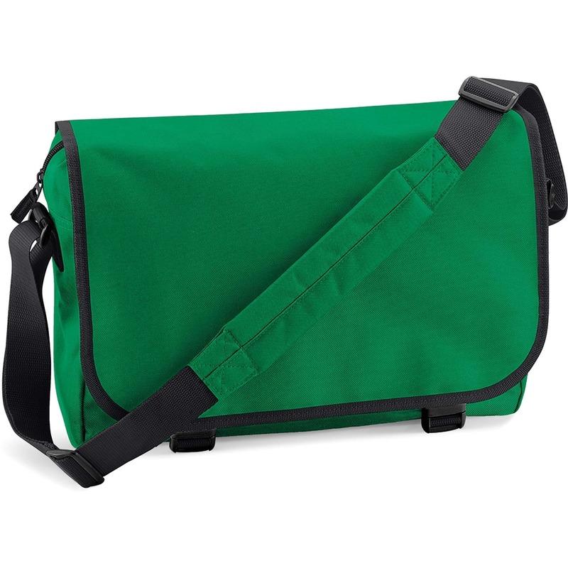 Schoudertas-aktetas groen 41 cm voor dames-heren