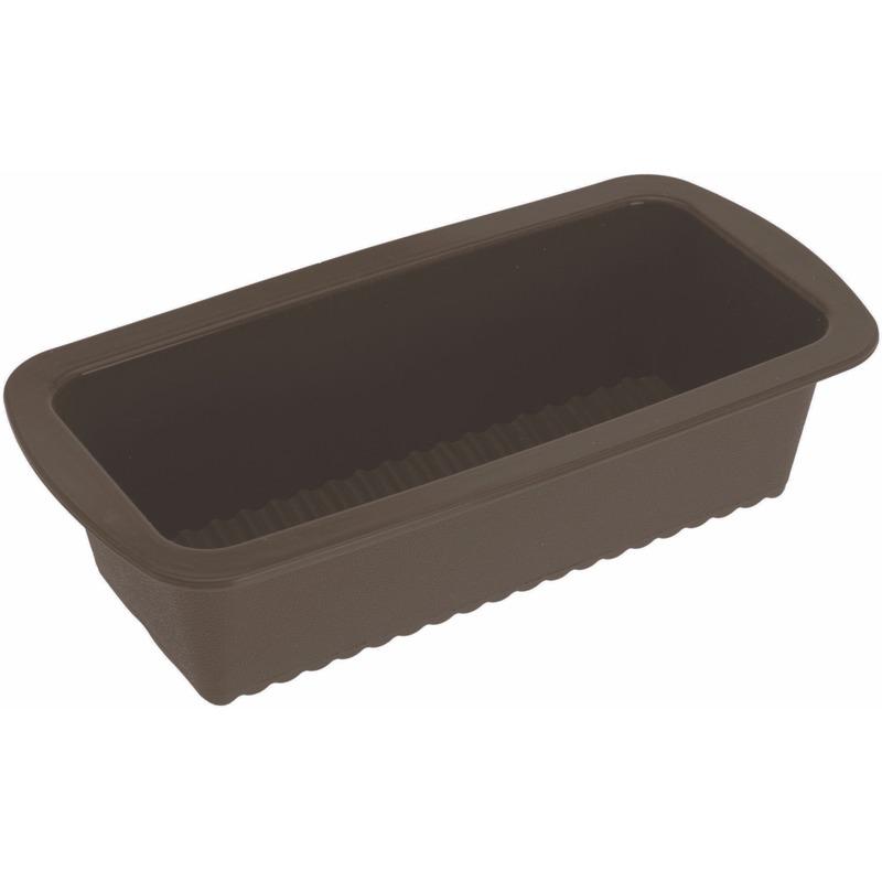 Siliconen cake bakvorm bruin 27 x 14 cm
