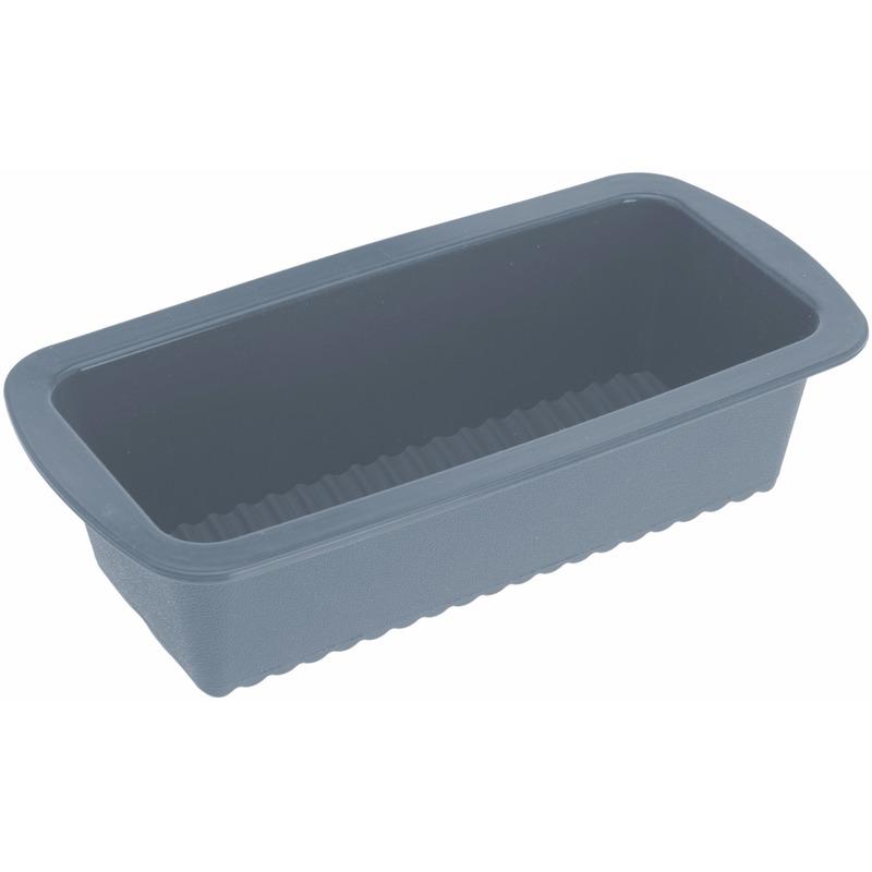 Siliconen cake bakvorm grijs 27 x 14 cm