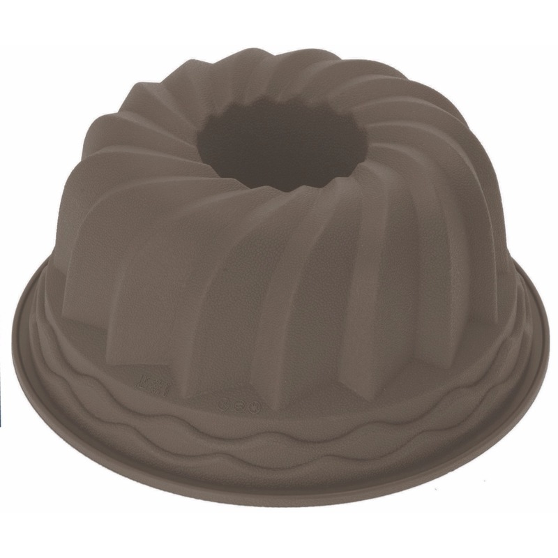 Siliconen tulband bakvorm bruin 24 cm