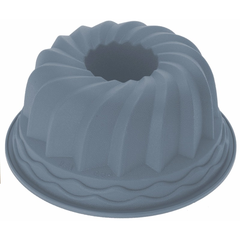 Siliconen tulband bakvorm grijs 24 cm