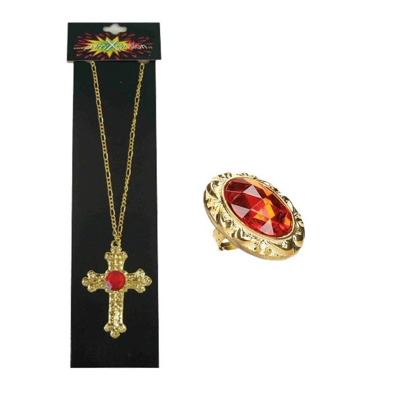Sinterklaas sieraden set ketting en ring