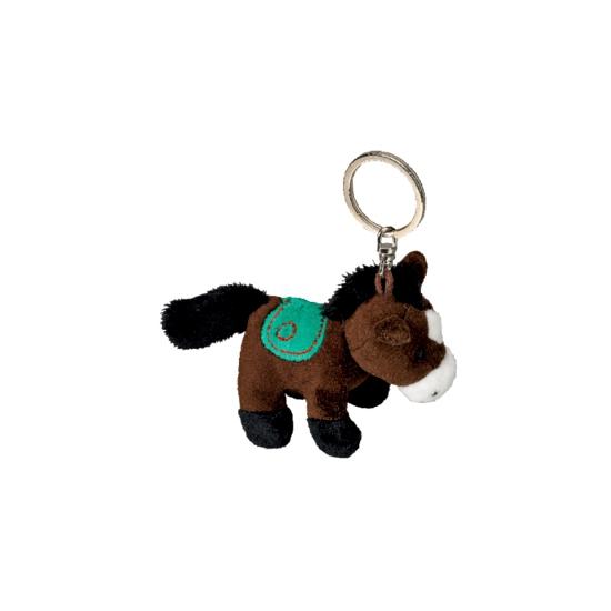Best Capshopper Pluche sleutelhangers|Sleutelhanger paardje donkerbruin 12 cm