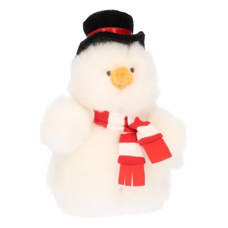 Sneeuwpoppen knuffels 14 cm