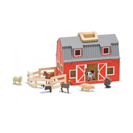 Speelgoed boerderij dieren en schuur