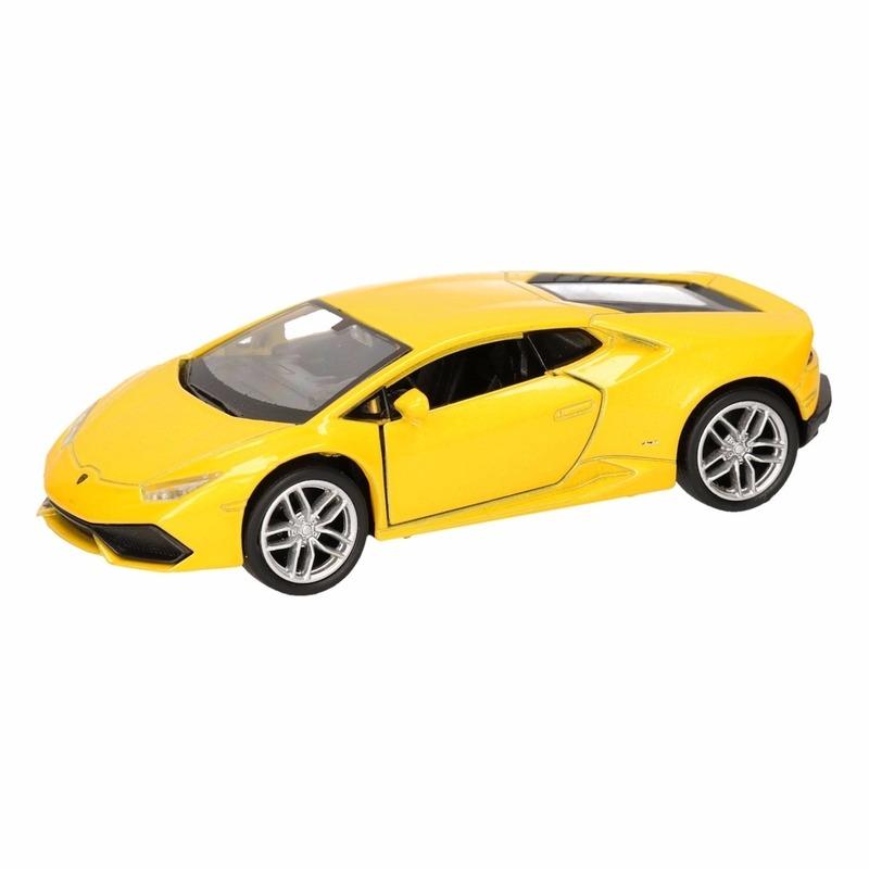 Speelgoed gele Lamborghini Huracan LP610-4 auto 12 cm
