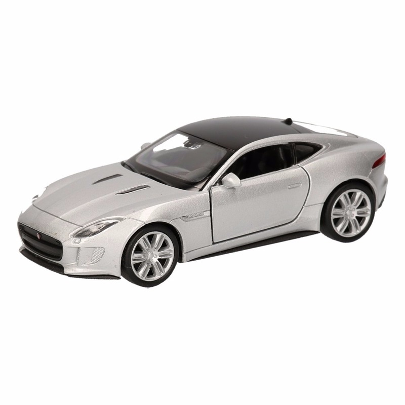 Speelgoed grijze Jaguar F-Type coupe speelauto 12 cm