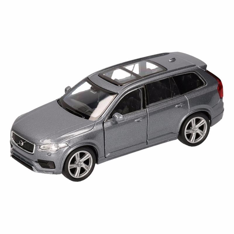Speelgoed grijze Volvo XC 90 2015 auto 16 cm