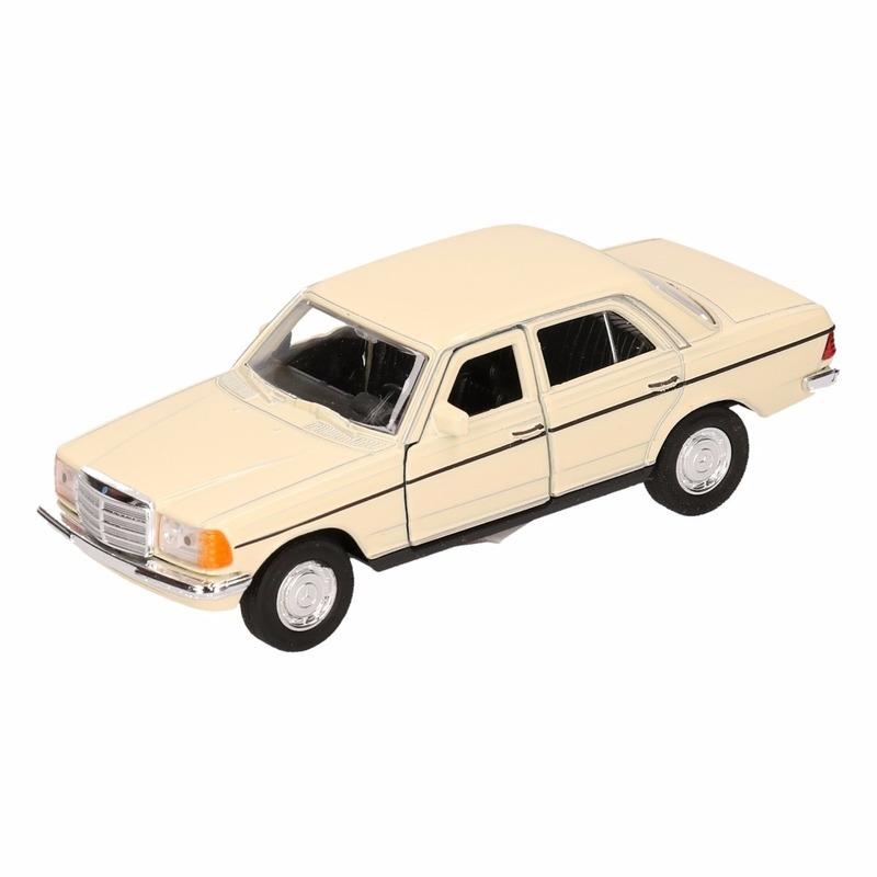 Speelgoed lichtgele Mercedes-Benz W123 16 cm