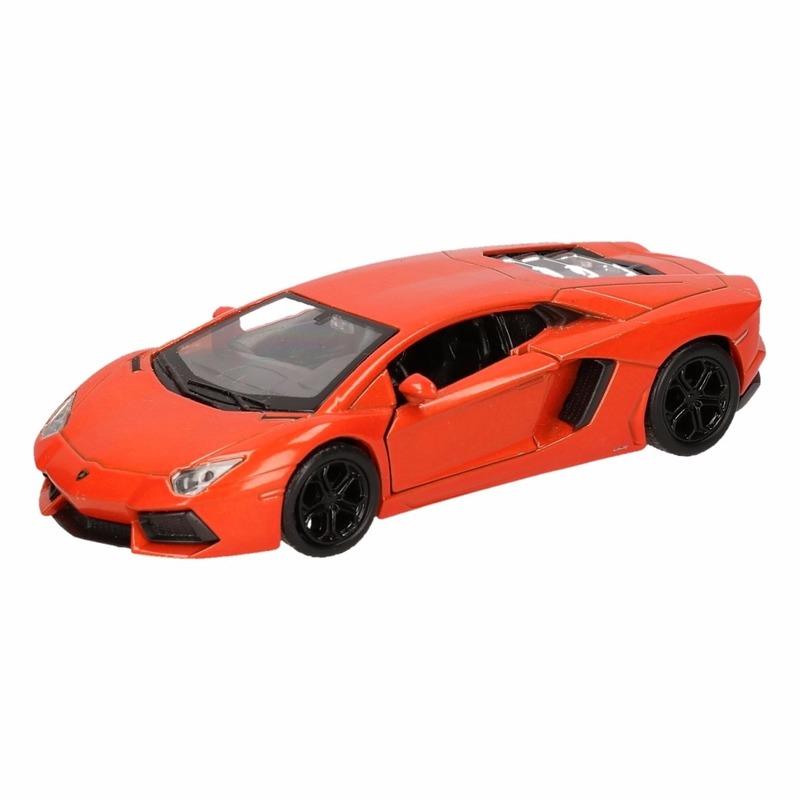 Speelgoed oranje Lamborghini Aventador LP700-4 auto 12 cm