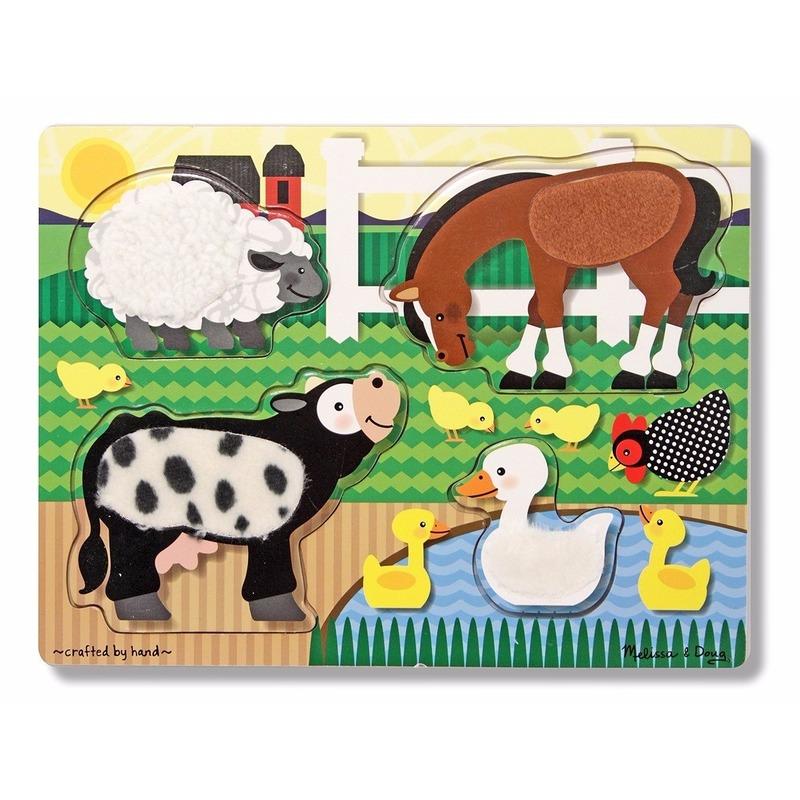 Speelgoed puzzel met boerderij dieren