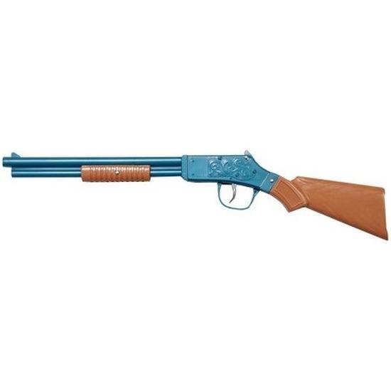 Speelgoed-verkleed cowboy geweer blauw 50 cm.