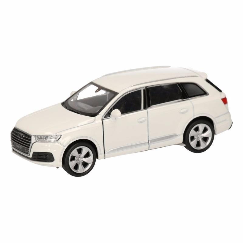 Speelgoed witte Audi Q7 auto 12 cm