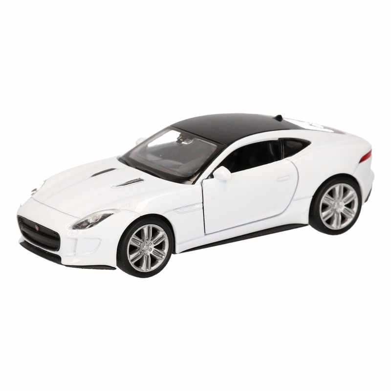 Speelgoed witte Jaguar F-Type coupe speelauto 12 cm