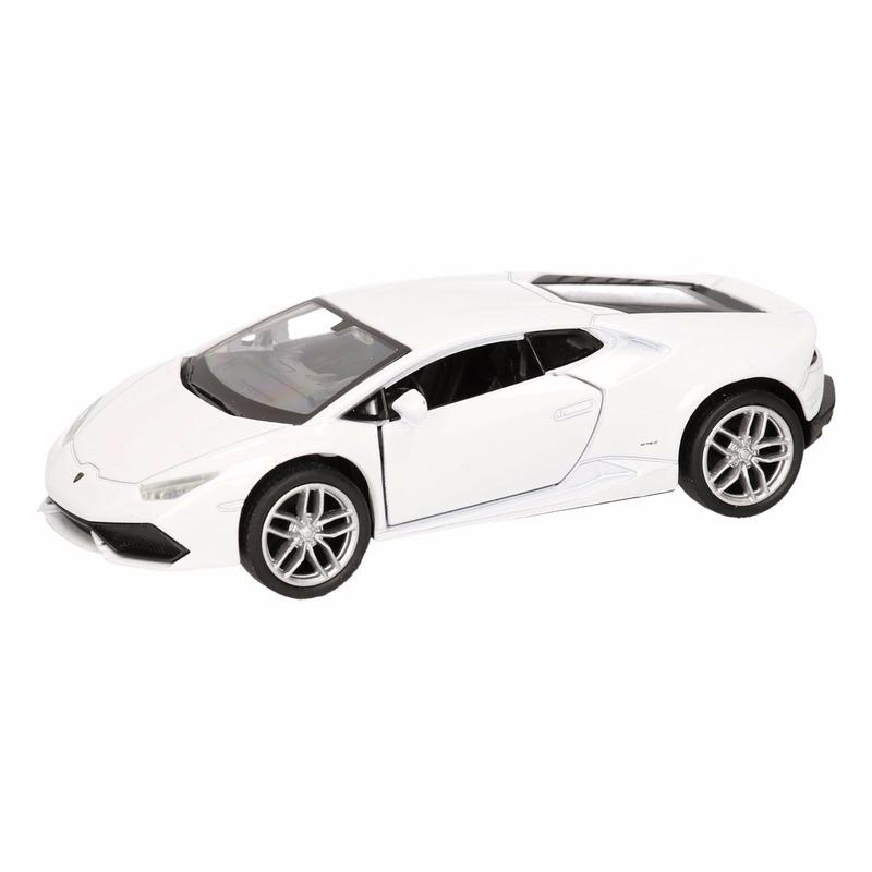 Speelgoed witte Lamborghini Huracan LP610-4 auto 12 cm