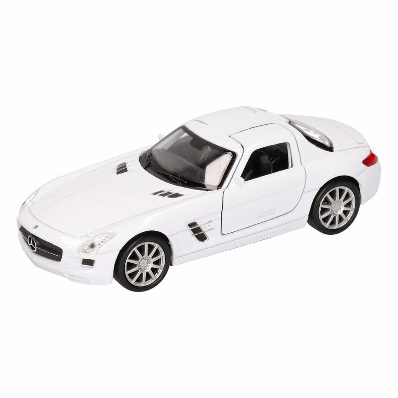 Speelgoed witte Mercedes SLS AMG 11,5 cm