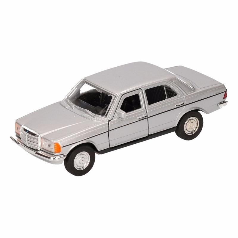 Speelgoed zilveren Mercedes-Benz W123 16 cm