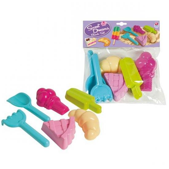 Speelgoed zoet zandvormen 6 delig