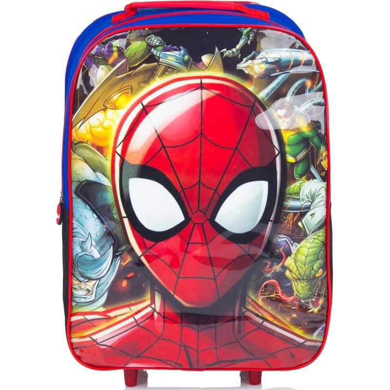Spiderman handbagage reiskoffer-trolley 42 cm voor kinderen