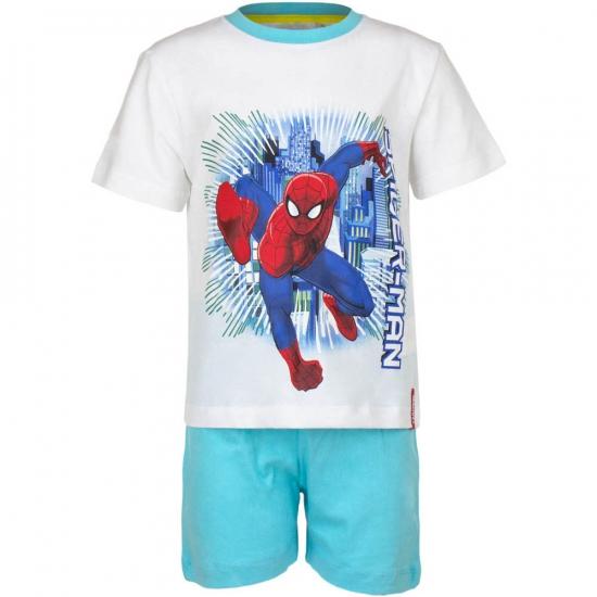 Spiderman korte pyjama jongens wit