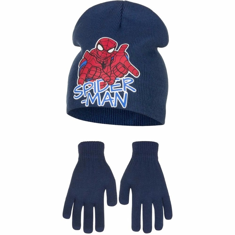 Spiderman winterset blauw voor jongens