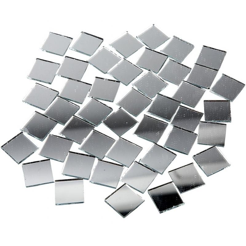 Spiegel mozaiek tegels 16x16 mm 500 stuks
