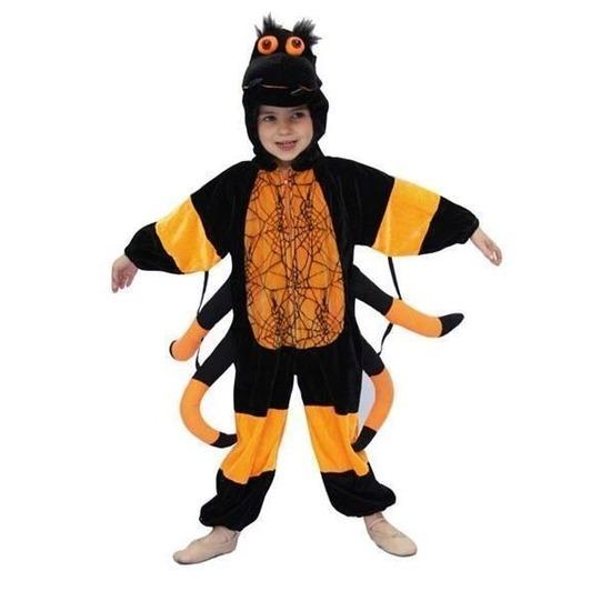 Pluche spinnen kostuum voor kinderen. dit pluche spin kostuum bestaat uit een oranje met zwart gekleurde ...