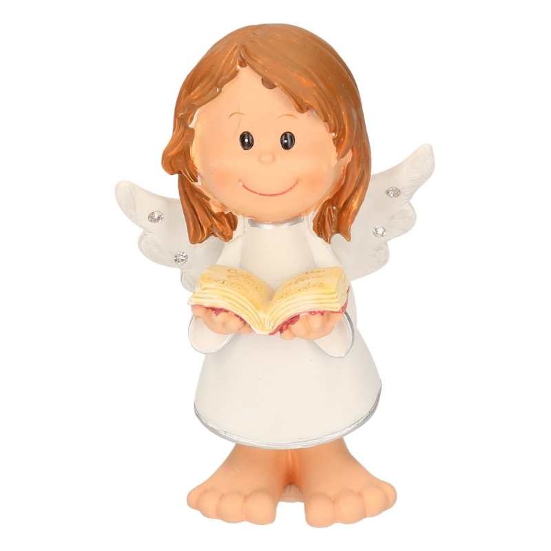 Staand engeltje met boek 10 cm