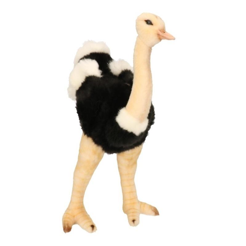 Staande struisvogel knuffel 32 cm