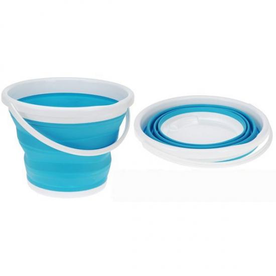 Strandspeelgoed blauwe emmer opvouwbaar