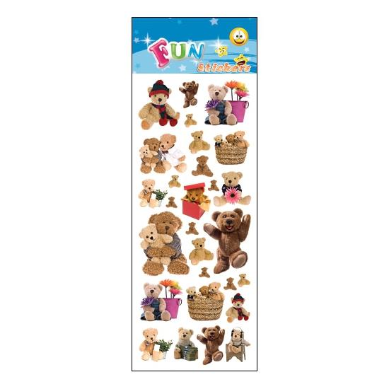 Schoolspullen Capshopper Teddyberen feestje stickers