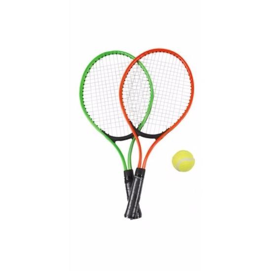 Tennis set groen-rood voor kinderen