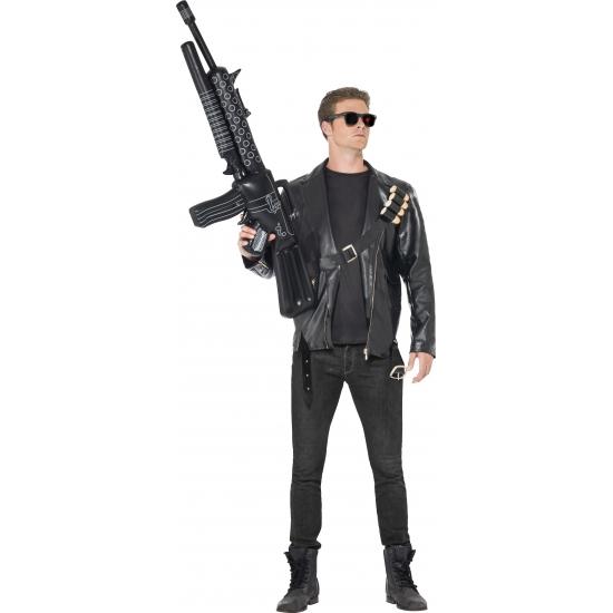 Terminator kostuum voor heren. compleet terminator kostuum bestaande uit: een jas, riem met kogels en ...
