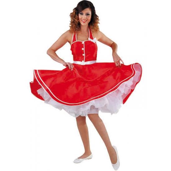 Toppers Rode rock en roll jurk voor dames