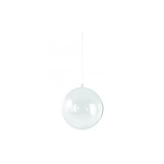 Transparante kerstballen 14 cm