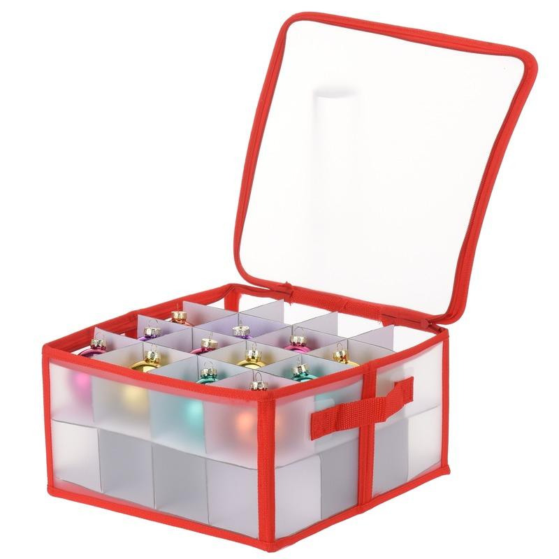 Transparante kerstballen opbergbox voor 32 kerstballen