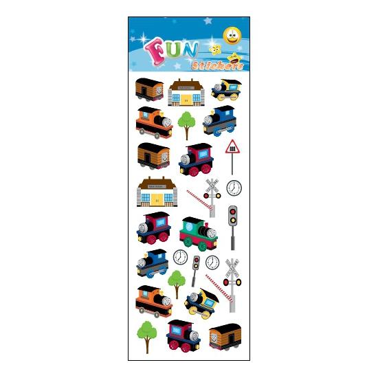 Schoolspullen Capshopper Treinen feestje stickers