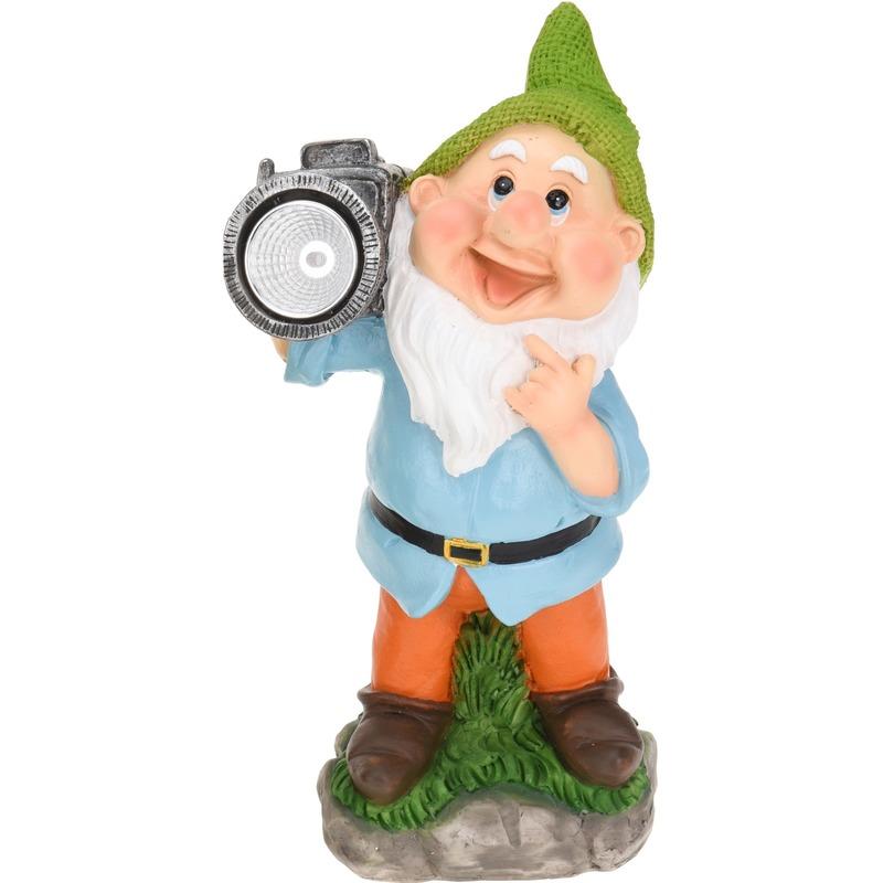 Tuinkabouter met camera 28 cm Geen voordeligste prijs