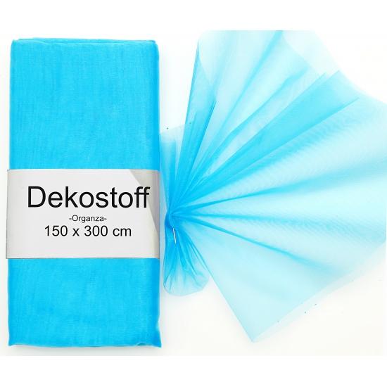 Turquoise gaas stof op rol 150 x 300 cm