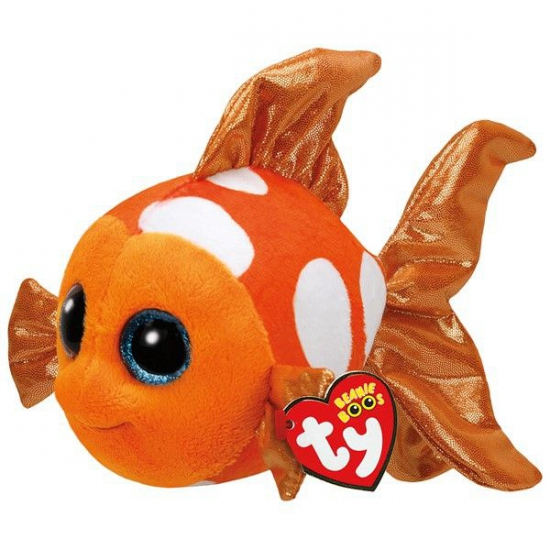 Ty Beanie knuffel clownvis 15 cm