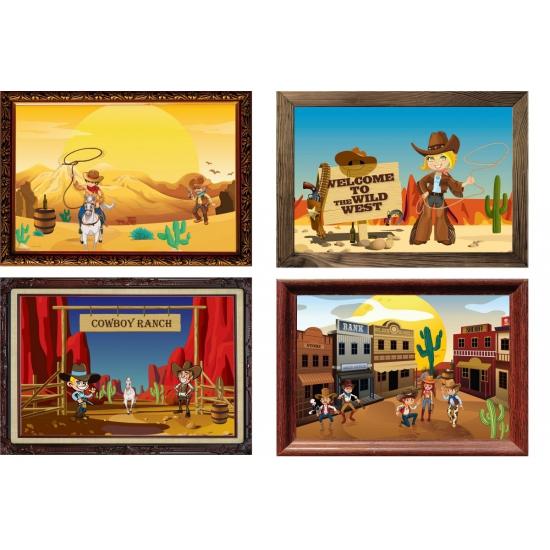 Vier Western feest poster