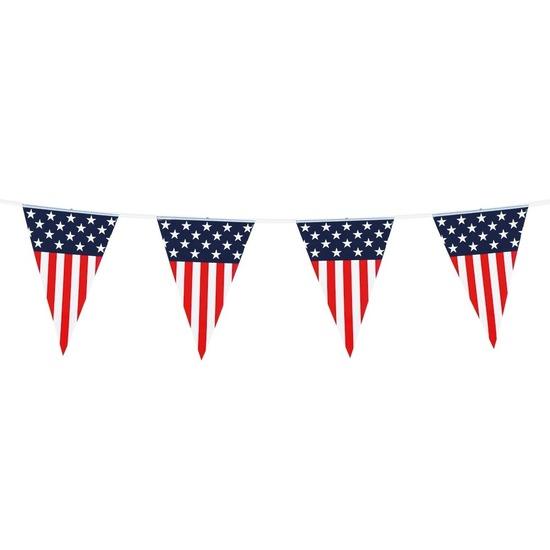 Vlaggenlijn-vlaggetjes Amerika-USA 6 meter