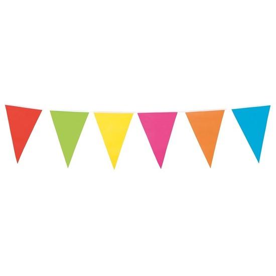 Vlaggenlijn vrolijke kleuren 10 meter