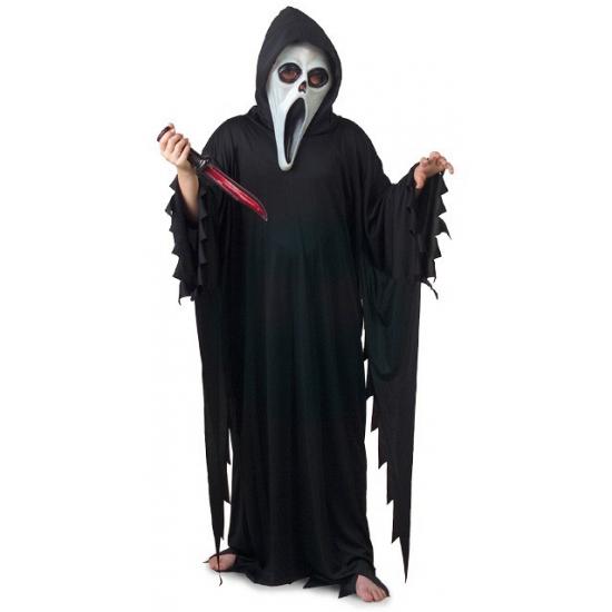Zwart scream kostuum voor kinderen. dit zwarte scream kostuum voor kinderen is een overslag inclusief ...