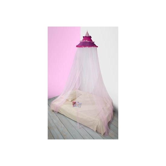 Vrolijk gekleurde roze klamboe 1 persoons voor op de kinderkamer Capshopper Woonaccessoires