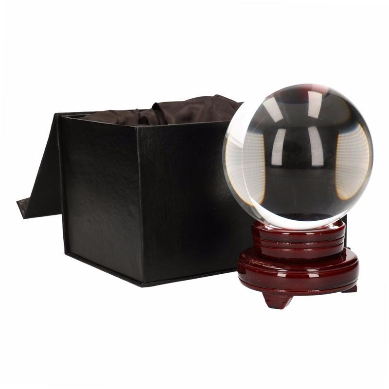 Waarzegsters deco glazen bol 10 cm