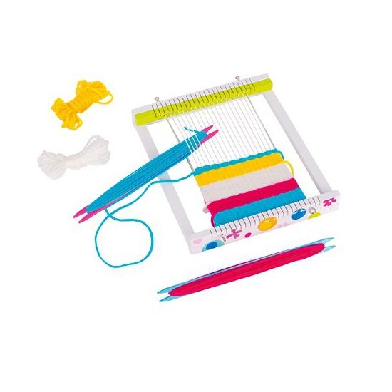 Creatief speelgoed Capshopper Weefgetouw met wol setje