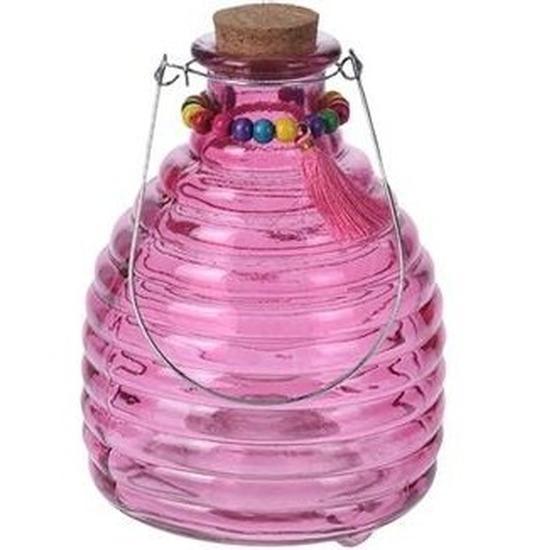 Wespenvanger van paars glas 18 cm Geen Schitterend