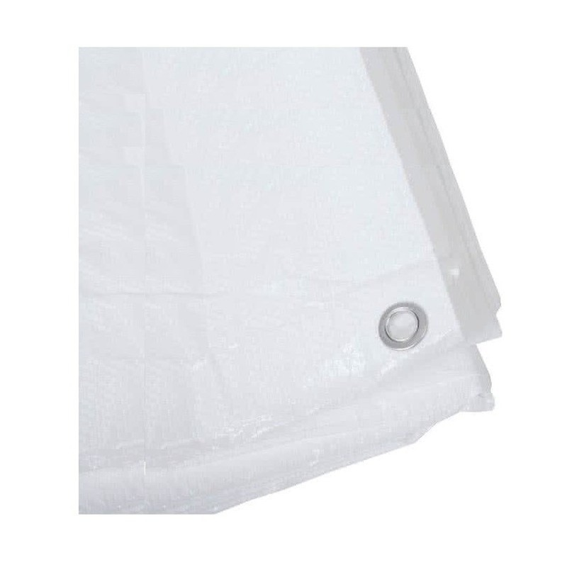 Wit afdekzeil-dekzeil 2 x 3 meter